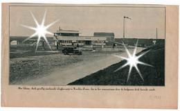 Knokke - Zoute, Krantenknipsel -  Coupure De Journal,  1933, Vlieghaven - L'aéroport. - Geography & History