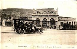 GERARDMER - La Gare, Départ De L'Auto Pour La Schlucht - Gerardmer
