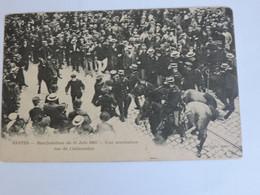 NANTES - Manifestation Du 14 Juin 1903 Une Arrestation Rue De Châteaudun   B0235 - Nantes