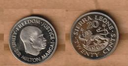 SIERRA LEONA   20 Cents 1964 Copper-nickel • 8.25 G • ⌀ 26.95 Mm  PROOF KM# 20 - Sierra Leone