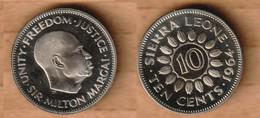 SIERRA LEONA    10 Cents 1964 Copper-nickel • 4.82 G • ⌀ 22.9 Mm KM# 19  PROOF - Sierra Leone