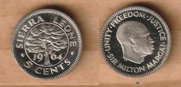 SIERRA LEONA    5 Cents 1964 Copper-nickel • 2.5 G • ⌀ 17.8 Mm KM# 18  PROOF - Sierra Leone