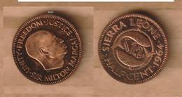 SIERRA LEONA ½ Cent 1964 Bronze • 2.85 G • ⌀ 20.3 Mm KM# 16 PROOF - Sierra Leone