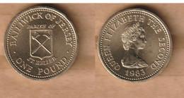JERSEY 1 Pound  (St. Helier) 1983 Nickel Brass • 9.5 G • ⌀ 22.5 Mm KM# 59 - Jersey