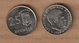 GUINEA EQUATORIAL  25 Bipkwele 1980 Copper-nickel • 6.38 G • ⌀ 25 Mm KM# 52 - Equatorial Guinea