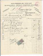 FACTURE ENVOYEE A LA MERE SUPERIEURE DE L'HOTEL DIEU DE BAYEUX  1924 Aux Forges Du Vulcain  Bayeux - 1900 – 1949