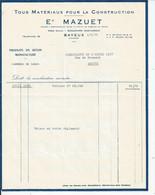 FACTURE ENVOYEE A LA MERE SUPERIEURE DE L'HOTEL DIEU DE BAYEUX Mazuet Bayeux 1960 - 1950 - ...