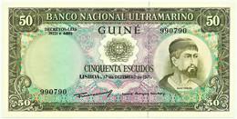 Guiné-Bissau - 50 Escudos - 17.12.1971 - P 44 - Unc. - Sign Varieties - Nuno Tristão - PORTUGAL - Guinea-Bissau
