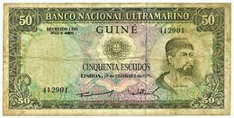 Guiné-Bissau - 50 Escudos - 17.12.1971 - P 44 - Sign Varieties - Nuno Tristão - PORTUGAL - Guinea-Bissau