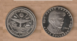 ISLAS MARSHALL    5 Dollars (Elvis Presley) 1993 • Copper-nickel • 28.4 G • ⌀ 38 Mm KM# 124 - Marshall Islands