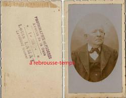 CDV Par Louis Lamat à Langogne (Lozère)-portrait D'homme - Antiche (ante 1900)