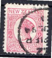 NOUVELLE ZELANDE - (Colonie Britannique) - 1873 - N° 37a - 1/2 P. Rose - (Victoria) - Gebraucht