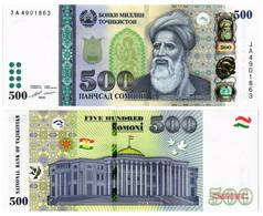 TAJIKISTAN 500 SOMONI 2018 P 22 - UNC - Tajikistan