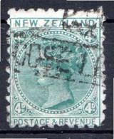 NOUVELLE ZELANDE - (Colonie Britannique) - 1882 - N° 63 - 4 P. Vert-bleu - (Victoria) - Gebraucht