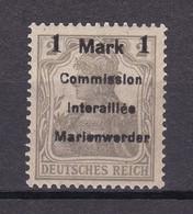 Marienwerder - 1920 - Michel Nr. 22 A I - Ungebr. - 40 Euro - Coordination Sectors