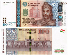 TAJIKISTAN 100 SOMONI 2017 P 27b - UNC - Tajikistan