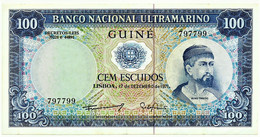 Guiné-Bissau - 100 Escudos - 17.12.1971 - P 45 - Sign Varieties - Nuno Tristão - PORTUGAL - Guinea-Bissau