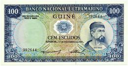 Guiné-Bissau - 100 Escudos - 17.12.1971 - P 45 - AUnc. - Sign Varieties - Nuno Tristão - PORTUGAL - Guinea-Bissau