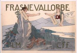 Ligne Frasne-Vallorbe - Symbole Liaison Franco-Suisse - PLM-CFF Image D'époque - Reproduction - Non Classés