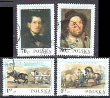 Poland 2000 - Piotr Michalowski - Paintings - Mi 3846-49  - Used - Usados