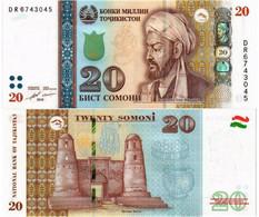 TAJIKISTAN 20 SOMONI 2018 P 25 - UNC - Tajikistan