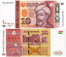 TAJIKISTAN 10 SOMONI 2018 P 24 - UNC - Tajikistan