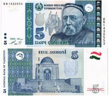 TAJIKISTAN 5 SOMONI 2013 (1999) P 23 - UNC - Tajikistan