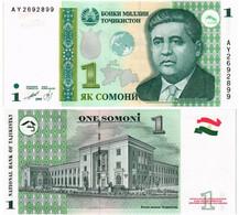 TAJIKISTAN 1 SOMONI 1999 P 14A - UNC - Tajikistan