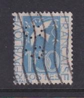 Perforé/perfin/lochung France 1934 No 294 SG Sté Générale (98) - Perforés