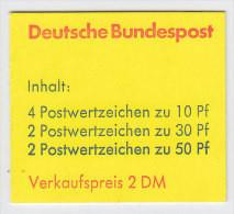 BRD MH 21 A II OZ, Postfrisch **, Burgen Und Schlösser 1977 - Booklets