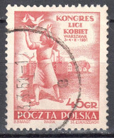 Poland 1951 - Women's League Congress - Mi 684 - Used - Used Stamps