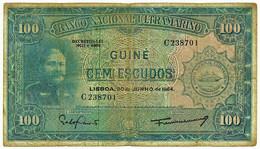 Guiné-Bissau - 100 Escudos - 30.06.1964 - P 41 - Sign Varieties - João Teixeira Pinto - PORTUGAL - Guinea-Bissau