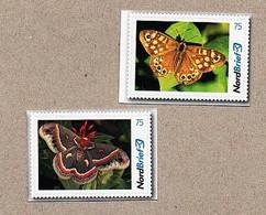 BRD - Privatpost - Nordbrief  - 2 W - Schmetterlinge Butterfly - Schmetterlinge