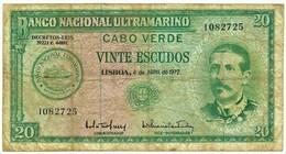 CAPE VERDE - 20 ESCUDOS - 04.04.1972 - Pick 52 - Serpa Pinto - Portugal Cabo - Cabo Verde