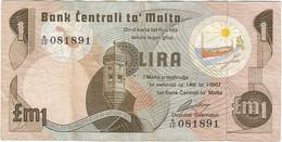 Malta 1 Lira 1979 Pk 34a Ref 3917-3 - Malta