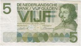 Países Bajos - Netherlands 5 Gulden 1966 Pk 90a Ref 3926-2 - 5 Gulden