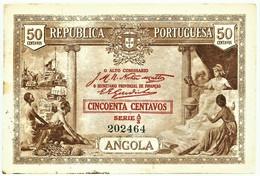 Angola - A Célebre RITA - 50 Centavos - 1923 - Pick 63 - Série A/3 - M.A. 2536 - Angola