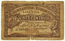 Angola - 20 Centavos - 19.04.1918 - Pick 50 - Série A - M.A. 2531 - Angola