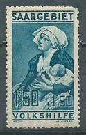Sarre YT N°106 Oeuvres Populaires Maternité Neuf/charnière * - Neufs
