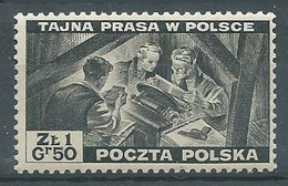 Pologne Timbres D'exil YT N°16 Impression D'un Journal Clandestin Neuf ** - Londoner Regierung (Exil)