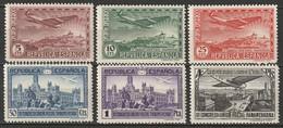 Spain 1931 Sc C62-7  Air Post Set MNH** Toned Gum - Unused Stamps
