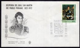 Argentina - 1973 - Hoja - FDC - Cachet Spécial - Despedida Del Gral. San Martin Del Pueblo Peruano 1822 - A1RR2 - Gebruikt