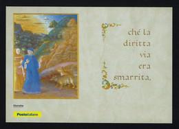 """2021 ITALIA """"700 ANNI MORTE DANTE ALIGHIERI"""" CARTOLINA FILATELICA 25.03.2021 (ANNULLO CUNEO) - Other"""