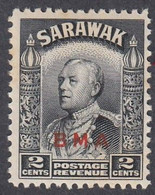 Sarawak, Scott #136, Mint Hinged, Brooke Overprinted, Issued 1945 - Sarawak (...-1963)