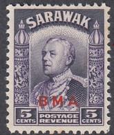 Sarawak, Scott #139, Mint Never Hinged, Brooke Overprinted, Issued 1945 - Sarawak (...-1963)