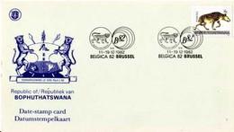 BOPHUTHATSWANA 1982  CARTE DATEE  BELGICA'82 - Bophuthatswana
