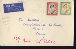 NOUVELLE ZELANDE LETTRE DU 12 MAI 1958 - Briefe U. Dokumente