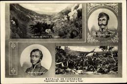CPA Venezuela, Batalla De Carabobo, Ambrosio Plaza, Manuel Cedello - Venezuela