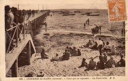 Dept 33,Gironde,Cpsm Andernos Les Bains,Ceux Qui Se Reposent,La Passerelle - Andernos-les-Bains