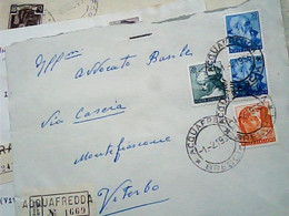 BUSTA  ACQUAFREDDA BRESCIA X VITERBO  MICHELANGIOLESCA RACCOMANDATA COPPIA 70 LIRE + 20 +10  VB1966 IB6756 - 1961-70: Storia Postale